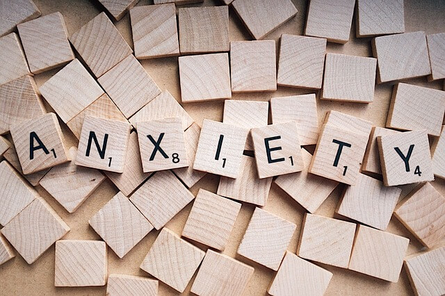 anxiety scrabble pieces